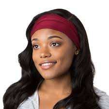 burgundy headband hipsy unisex adjustable spandex xflex basic burgundy headband