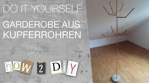 diy garderobe how 2 diy garderobe aus kupferrohren
