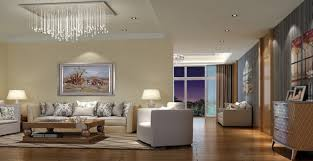 beautiful interior design with crystal chandelier for contemporary