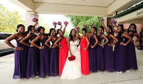 nigerian purple bridesmaid dresses one shoulder ruffle wedding