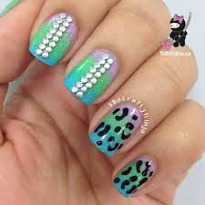gradient stud leopard nails the crafty ninja