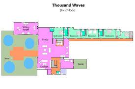 Ocean Shores Floor Plan Splendid Mansion Thousand Waves On The Pacific Ocean Shore Home