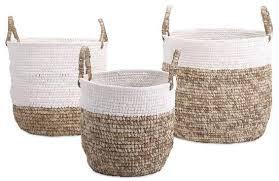 lace accessories raffia lace basket set home accessories at