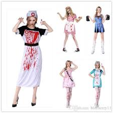 2017 fashion halloween cosplay costumes dress nurse clothes scary