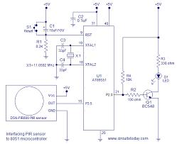 interfacing pir sensor to 8051 intruder alarm using pir sensor