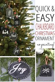 easy chalkboard ornament no painting finding home farms