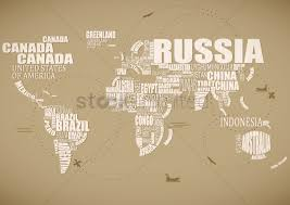 World Cloud Map by Country Word Cloud In The Shape Of A Map Vector Image 1507496