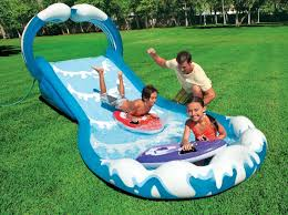 inflatable water slide commercial pool park kids wet bounce