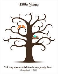 fingerprint guest book baby shower fingerprint tree