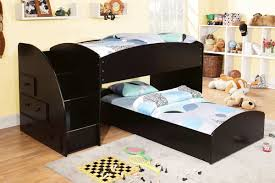 Bunk Bed With Mattress Merritt Black Staircase Bunk Bed Andrew S Furniture And Mattress