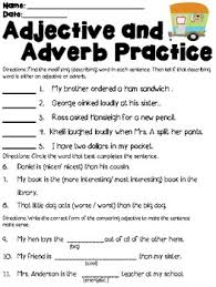 adjective and adverb test review the adjective adverbs and