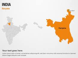 haryana india powerpoint map slides haryana india map ppt