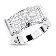 men gold ring diamond gold ring by luxurman 0 8ct 14k wedding band