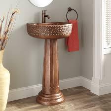 Pictures Of Pedestal Sinks In Bathroom by Vine Hammered Copper Pedestal Sink Bathroom
