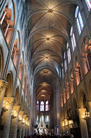 paris enthusiastical the high wide vaulted ceiling inside make notre dame one of the biggest of all