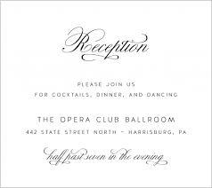 wedding reception card wording wedding invitation reception card wording lovely wedding cocktail
