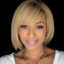 pic of black women side swept bangs and bun hairstyle 20 epic short bob hairstyles every black women should try
