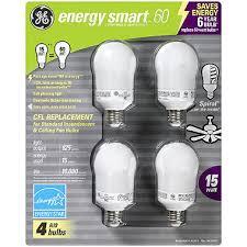 Ge Energy Smart 60 Cfl Ceiling Fan Bulbs 4 Ct Sam S Club