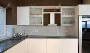modern house kitchen interior with simple and expensive furniture