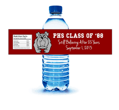 name tags for class reunions class or family reunion water bottle label custom design