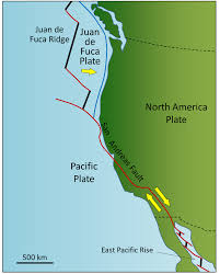 physical map of oregon juan de fuca plate chapter 10 plate tectonics physical geology