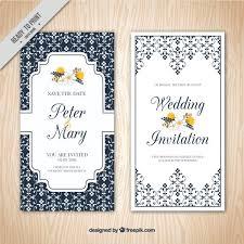 wedding invitations freepik ornamental wedding invitation vector free
