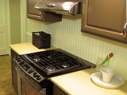 how to install a backsplash in the kitchen how to install a beadboard backsplash diy