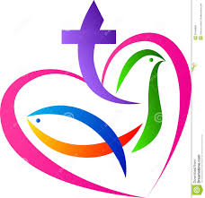 christian symbols vector drawing represents christian love