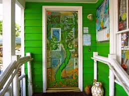 painted front door handmade artwork painted front door ideas with colorful pattern