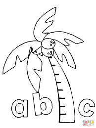 123 coloring pages pages palm tree