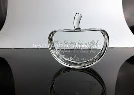 Personalized Paper Weight Gifts Personalized Crystal Apple Paperweight Diy Glass Paperweight