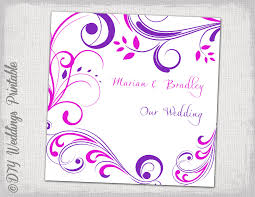wedding cd dvd cover template purple and pink
