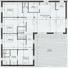 plan de maison en l avec 4 chambres plan maison plain pied 4 chambres avec suite parentale inspirant