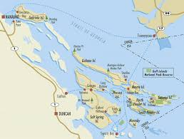 Vancouver Canada Map by Gulf Islands Traveling Islanders