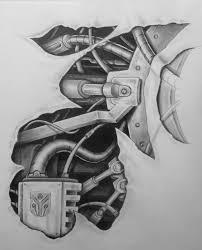 mech tattoo design pt 2 by karlinoboy on deviantart биомех