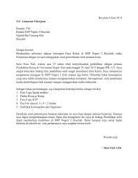 contoh surat pernyataan untuk melamar kerja informasi lowongan kerja smk sma terbaru contoh membuat surat