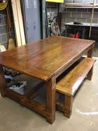 opulent rectangle brown wooden farmhouse table and benches as