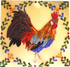 hand crafted quimper french rooster mural big tile for kitchen custom made quimper french rooster mural big tile for kitchen backsplash