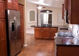 Kitchen Direct Cabinets Kitchen Design With L Shaped Cherry Oak Wood Cabinet Using Black
