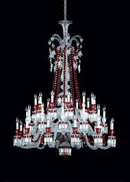 Bacarat Chandelier Baccarat Zenith Red And Clear 36 Light Chandelier