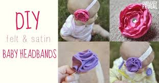how to make baby flower headbands how to make baby headbands satin and felt flowers diy for babies