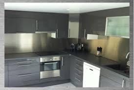 plaque d inox pour cuisine revetement mural inox pour cuisine maison design bahbe com