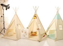 kids nursery teepee cotton house wood kids bed house children
