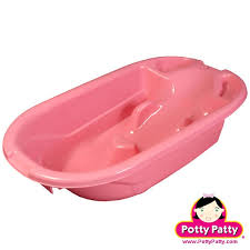 pink baby bath tub for potty patty