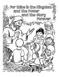 free lord u0027s prayer coloring pages children parents