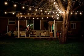 String Lighting For Patio Decorative Outdoor String Lights Garden Ideas Coexist Decors