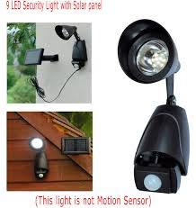 Solar Shed Light by 9 Led Security Light With Solar Panel Home Garden Rechargeable