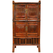 kitchen armoire cabinets chinese bamboo kitchen cabinet at 1stdibs