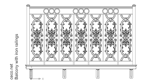balcony railings ornamental iron works block in decorative