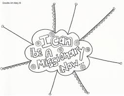 missionary work religious doodles